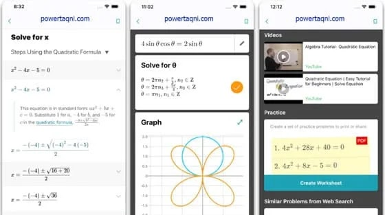 تطبيق حل المعادلات الرياضية Microsoft Math Solver من مايكروسوفت