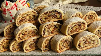 Suhi kolač s orasima - Brzo i Jednostavno / Crisp Walnut Roll Cookies - Quick and Simple