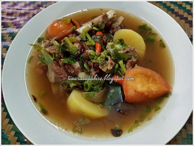 Resepi Sup Tulang Ala Thai Mudah dan Ringkas