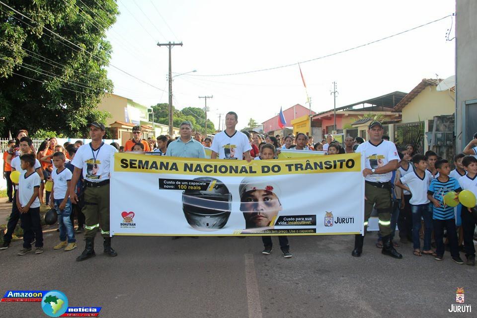 Caminhada abre oficialmente a semana nacional do trânsito em Juruti