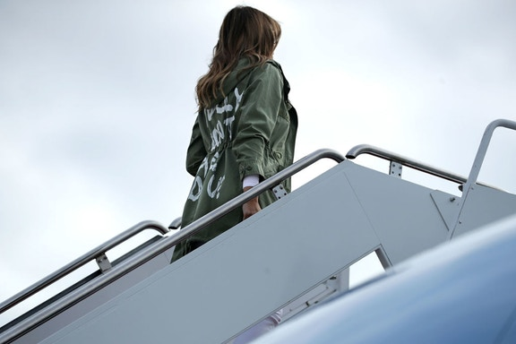 Melania's Shirt jacket prompts thousands to declare 'I really do care' about separated families
