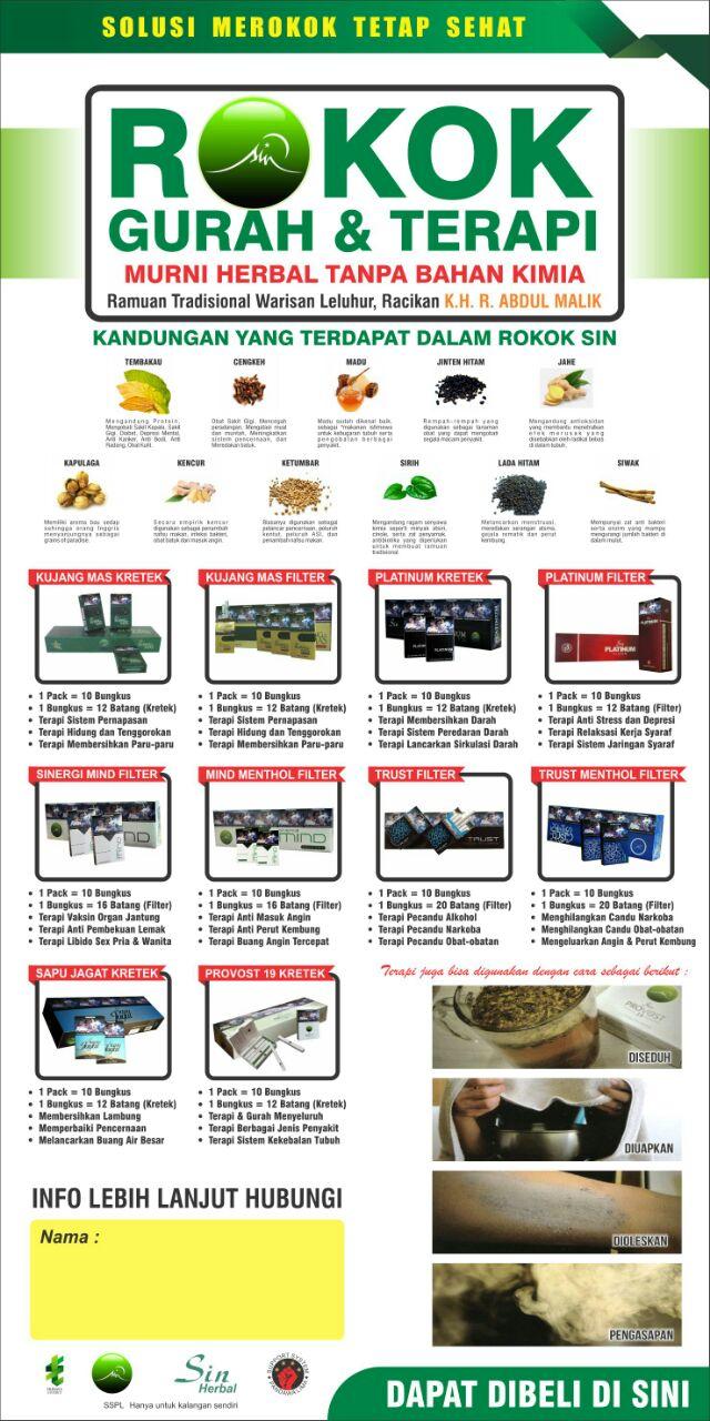 Rokok Sin Herbal Tridaya Sinergi Indonesia Stokis Ksatria Kinasih Provost Kami Siap Melayani Penggemar Di Gombong Dan Sekitarnya Jenis Manfaat Masing Produk Bisa Anda Baca Pada Gambar Berikut