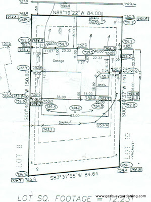 Lot survey from the city