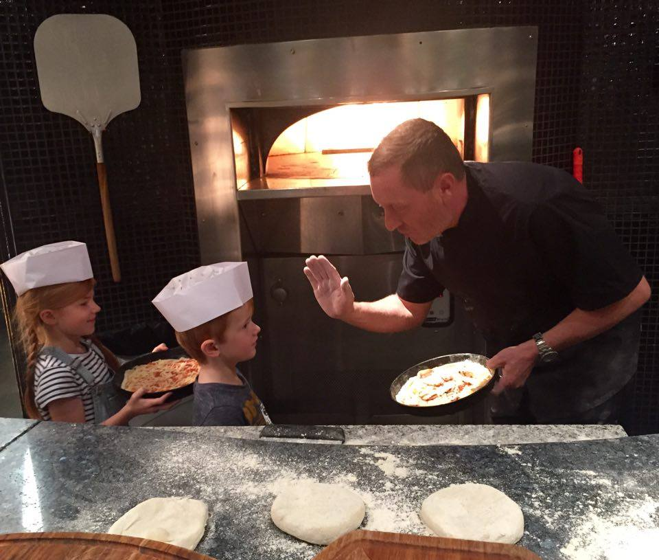 Pizza Making at Babucho Newcastle | Children's Menu & Lunch Review - pizza oven