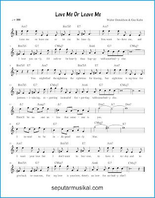 Love Me or Leave Me chords jazz standar