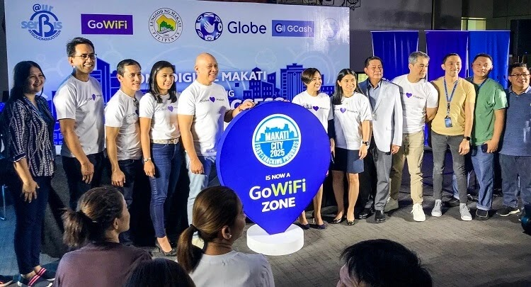 Globe Telecom's executives together with the local government of Makati