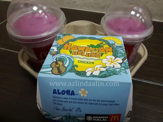 Burger Mc Donald's Hawaiian Deluxe Chicken Aloha Kene Selera Mummy