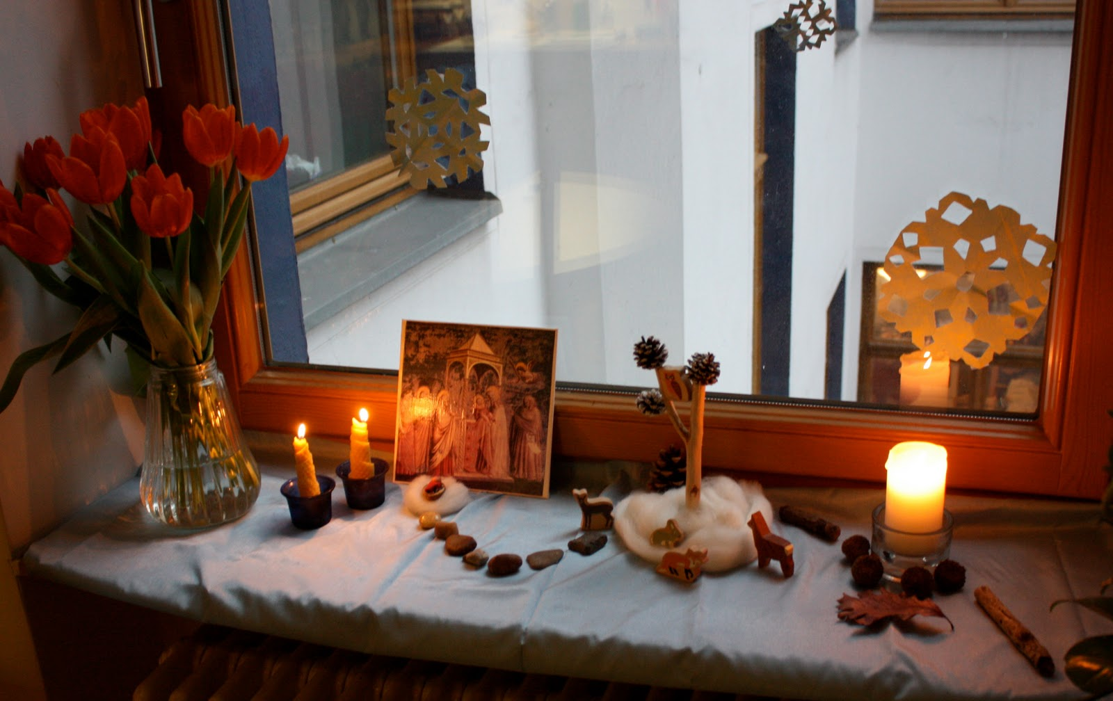 Winter nature table - On Candlemas February 2 We Remember The Story Of Baby Jesus Being Presented In The Temple We Rejoice With Simeon And Anna That God S Gift To The World