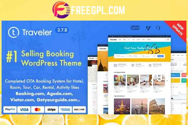 Travel Booking WordPress Theme Free Download