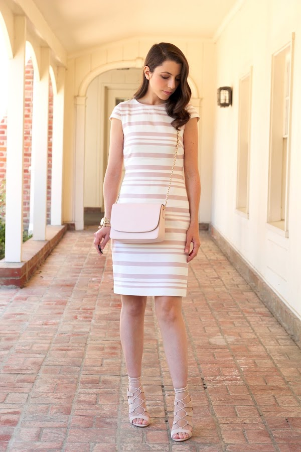 J.Crew Pink Striped Dress
