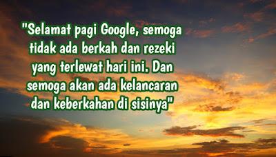 inspirasi ucapan selamat pagi google