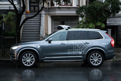 Uber self driving Volvo XC90