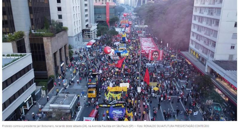 Confira imagens das manifestações contra Bolsonaro e a favor da vacina em 25 estados e no DF
