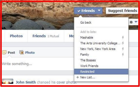 what is restricted on facebook mean
