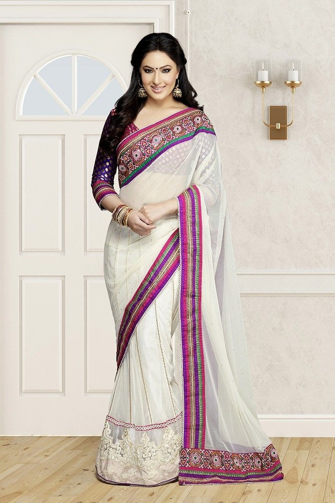 Nikesha Patel Awesome In Saree New Photoshoot