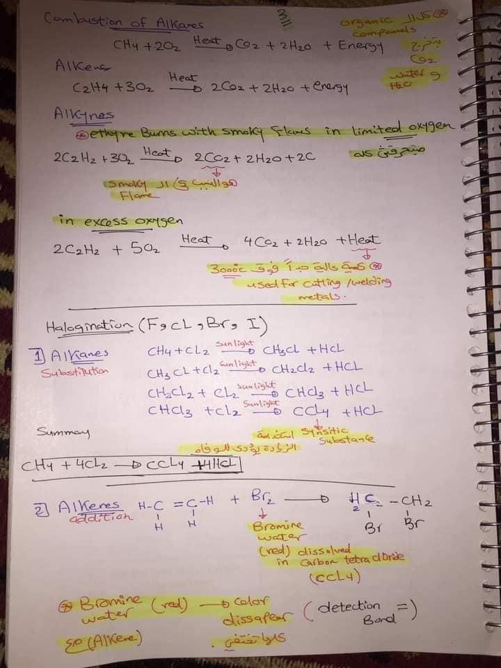 ملخص organic chemistry للثانوية العامة لغات 3