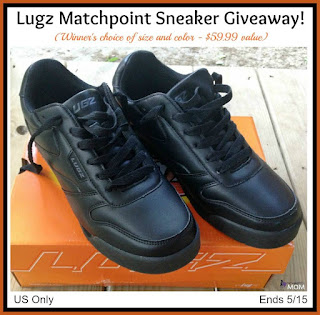 Enter the Lugz Matchpoint Sneaker Giveaway. Ends 5/15
