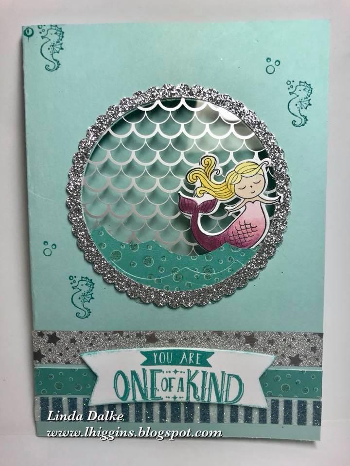 Linda Dalke: Video Tutorial: How to make a Mermaid Window Card