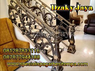 model railing tangga besi tempa, railing tangga klasik, railing tangga besi ulir (13)