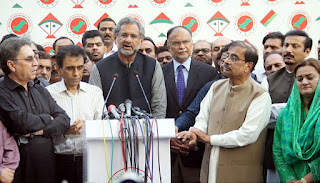 If you are outside, we are out of the cabinet. Interesting dialogue in the meeting between the PML-N and the MQM.