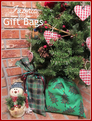 easy sew fabric gift bags