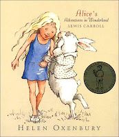 cover page of Alice's Adventures in Wonderland, illustrated by Helen Oxenbury