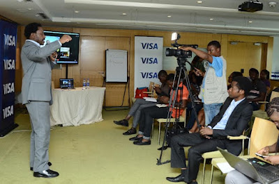 tech bloggers in nigeria hang out with Visa card
