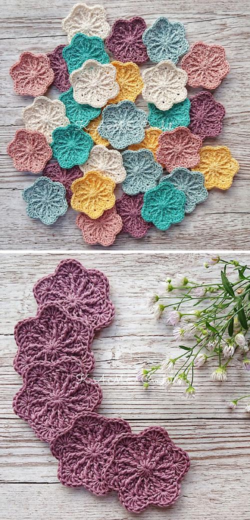 Sakura Face Scrubbies - Free Crochet Pattern