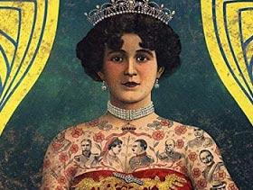 Cartel mujer tatuada del circo