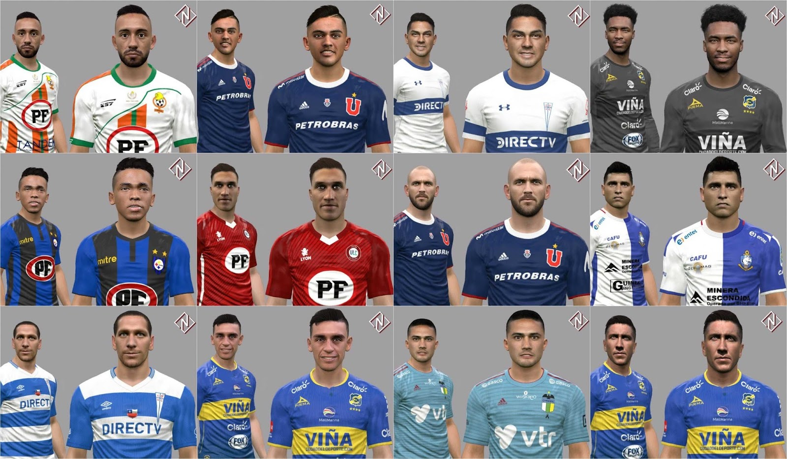 PES 2017 - 12 Faces by Nahue Updated 19.11