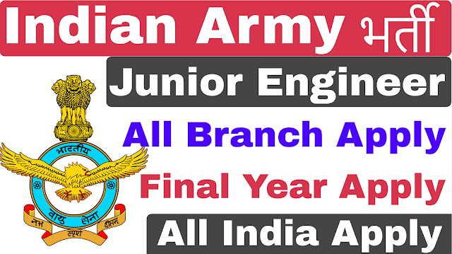 Indian Army Engineer Recruitment 2019 For Various Post