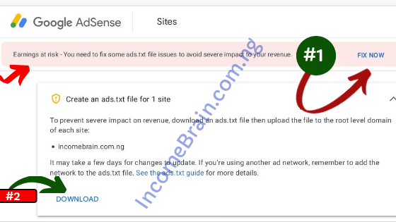 Fix ads.txt file issues on Google Adsense Account for Blogspot and WordPress Step by step