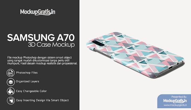 PSD Mockup Custom Case SAMSUNG Galaxy A70 Gratis