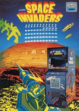 Taito Space Invaders arcade game flyer