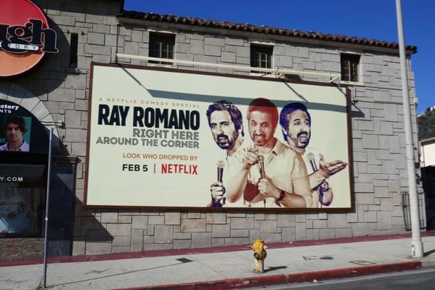 Ray Romano Right here around corner billboard