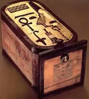 Wood Box in the Form of Tutankhamun's Cartouche