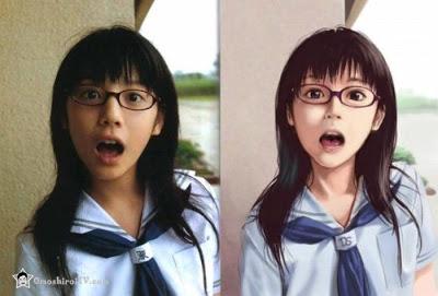 Enjoyable Anime Vs Real Life Girl Omoshiroitv Hairstyle Inspiration Daily Dogsangcom
