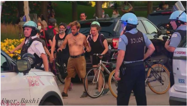Eighteen Police Officers Were Injured In A Chicago Protest