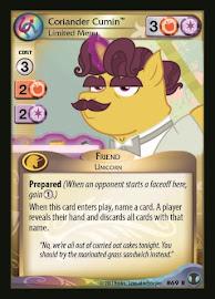My Little Pony Coriander Cumin, Limited Menu Defenders of Equestria CCG Card