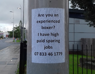 Boxing advert in Stockport