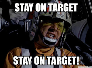 Star Wars reminder to stay on target with healthy eating.