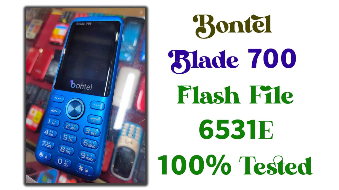 Bontel Blade 700 Flash File is a tested bin file for any of the feature phone flashing tools. This file comes in a zip package on your PC/Laptop.