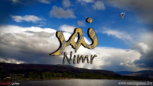 معنى اسم نمر وصفات حاملة هذا الاسم Nimr