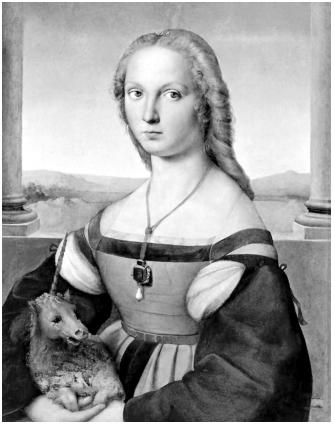 SANZIO, R. (1483-1520). A mulher com o unicórnio.
