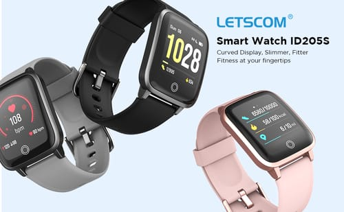 Review LETSCOM ID205S Fitness Trackers Smart Watch