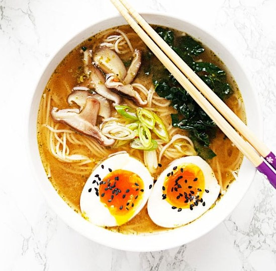 Vegetarian Miso Ramen #healthy #easy