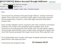 10 Kali Saya Ditolak Sebagai Publisher Google Adsense
