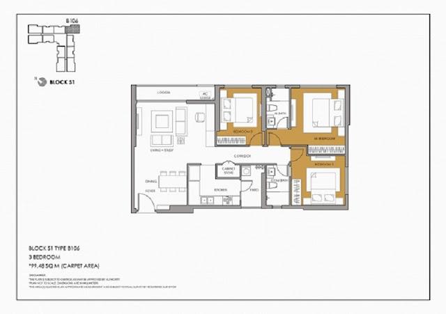 Thiết kế điển hình căn hộ 3 phòng ngủ Season Avenue