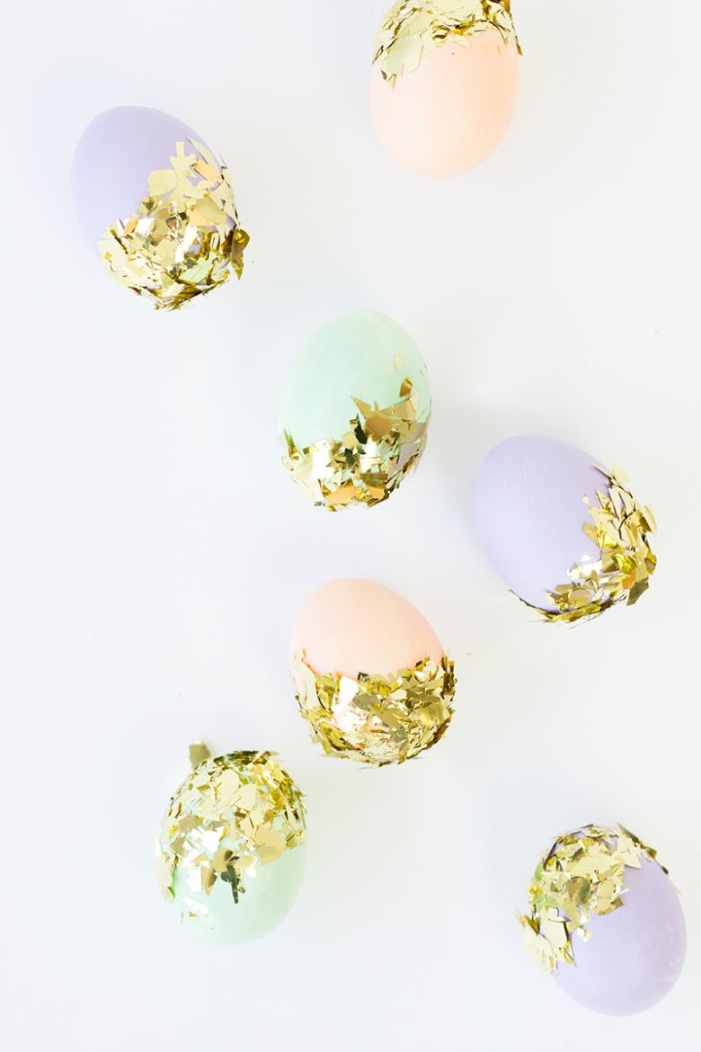 Easter egg decorating ideas - Confetti dipped Easter Eggs
