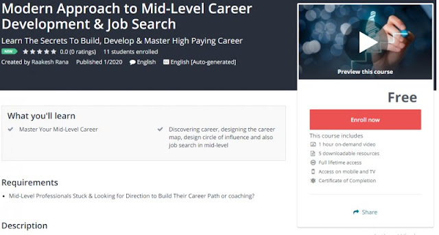 [100% Free] Modern Approach to Mid-Level Career Development & Job Search